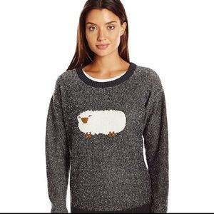 Woolrich | fluffy sheep wool crew neck sweater